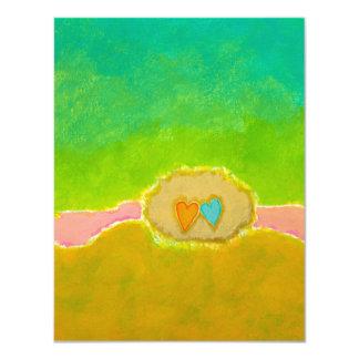 Tarjetas caprichosas de RSVP del amor del verano Invitación 10,8 X 13,9 Cm