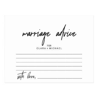 Tarjetas caprichosas del consejo de la boda de la