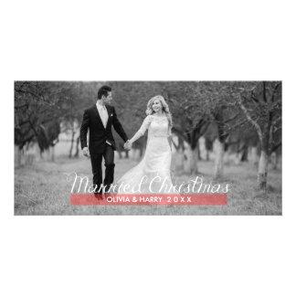 Tarjetas casadas de la foto del navidad