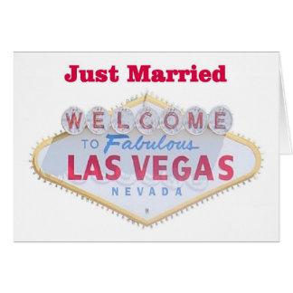 Tarjetas casadas de Las Vegas apenas
