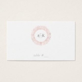 Tarjetas color de rosa elegantes del lugar del
