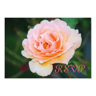 Tarjetas color de rosa perfectas de RSVP de la Invitacion Personalizada