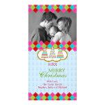 Tarjetas coloridas de la foto del día de fiesta de tarjeta personal