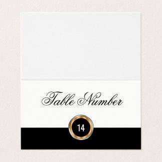 Tarjetas con clase del número de la tabla del boda