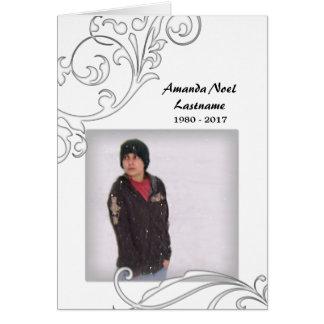tarjetas conmemorativas: flourish blanco