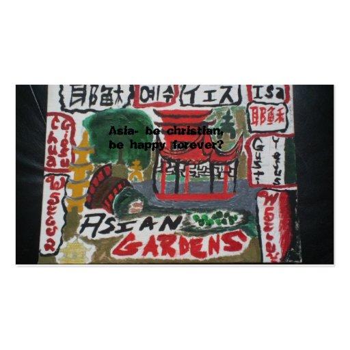Tarjetas cristianas asiáticas de la zona/lengua tarjetas personales