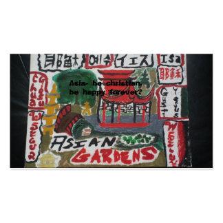Tarjetas cristianas asiáticas de la zona/lengua tarjetas de visita