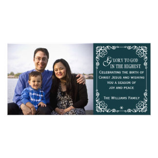 Tarjetas cristianas de la foto del navidad del vin tarjeta personal