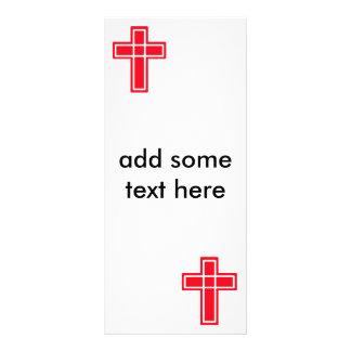 Tarjetas cruzadas rojas y blancas cristianas del plantillas de lonas