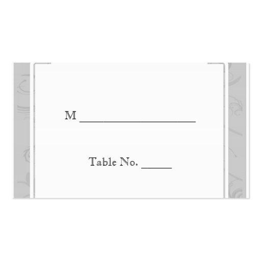 Tarjetas curvadas del lugar de la bodas de plata d plantillas de tarjetas de visita