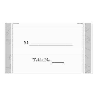 Tarjetas curvadas del lugar de la bodas de plata tarjetas de visita