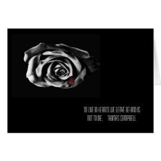 Tarjetas de condolencia color de rosa negras