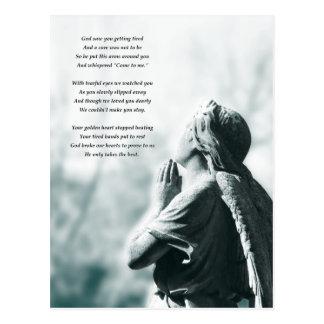 tarjetas de condolencia del rezo del ángel postal
