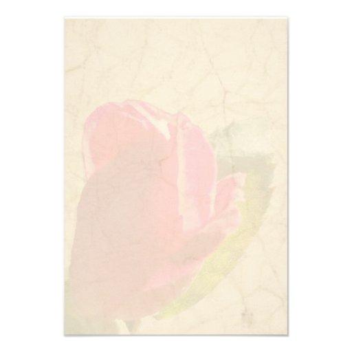 Tarjetas de condolencia pálidas del pergamino del  invitacion personal