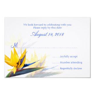 Tarjetas de contestación hawaianas del boda de la invitación 8,9 x 12,7 cm