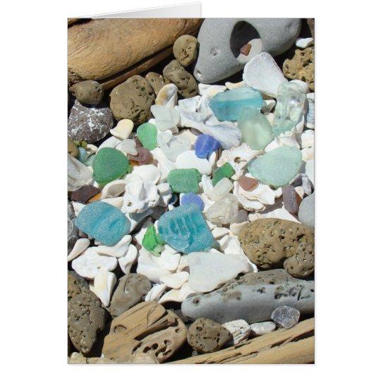 Tarjetas de cristal de los fósiles de los