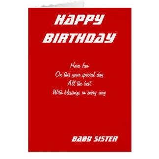 Tarjetas de cumpleaños de la hermana del bebé
