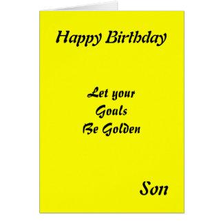 Tarjetas de cumpleaños de motivación del hijo