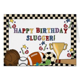 Tarjetas de cumpleaños del bateador del béisbol