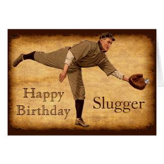 Tarjetas de cumpleaños del béisbol del vintage