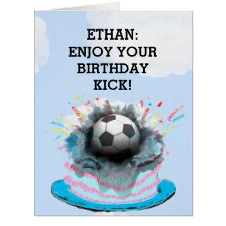 tarjetas de cumpleaños del fútbol