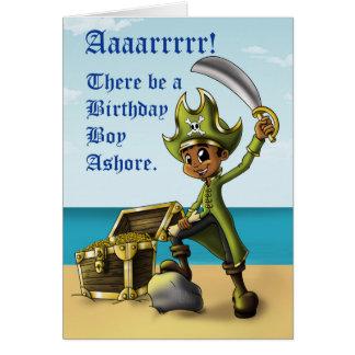 """""""Tarjetas de cumpleaños del muchacho del pirata """" Tarjeta De Felicitación"""