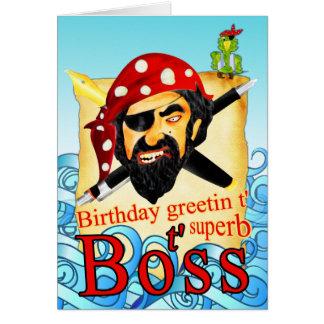 Tarjetas de cumpleaños del pirata de Boss