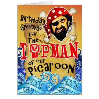 Tarjetas de cumpleaños del pirata del papá