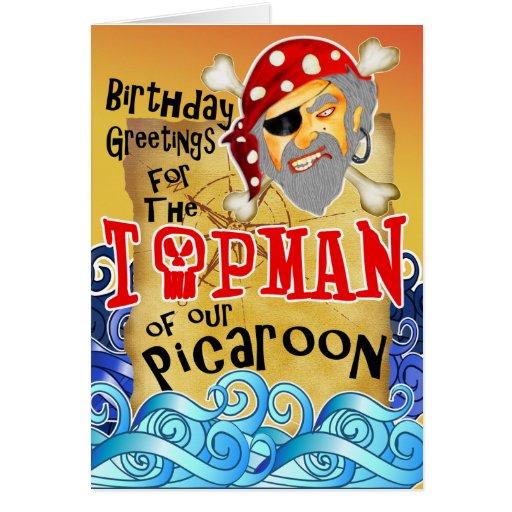 Tarjetas de cumpleaños del pirata para el abuelo