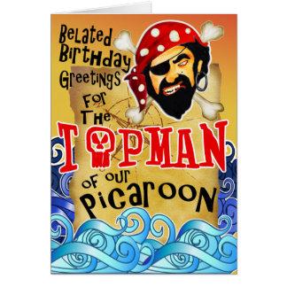 Tarjetas de cumpleaños del pirata para el jefe
