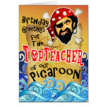Tarjetas de cumpleaños del pirata para el profesor
