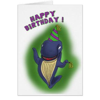 Tarjetas de cumpleaños divertidas: Ballena de un c