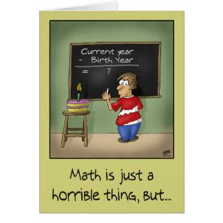 Tarjetas de cumpleaños divertidas Matemáticas del