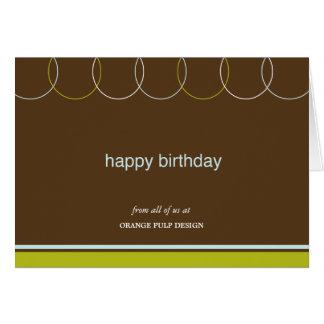Tarjetas de cumpleaños encantadoras del negocio de