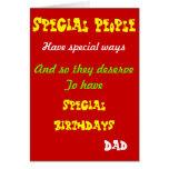 Tarjetas de cumpleaños especiales del gente-papá