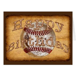 Tarjetas de cumpleaños frescas del béisbol del