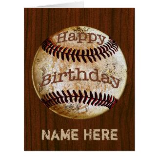 Tarjetas de cumpleaños personalizadas del béisbol