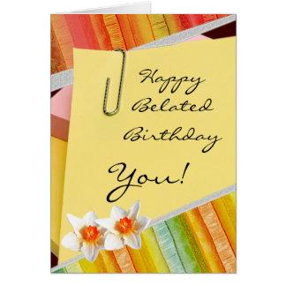 Tarjetas de cumpleaños tardías felices para todos
