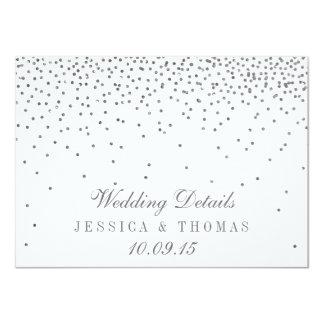 Tarjetas de detalle de plata atractivas del boda invitación 11,4 x 15,8 cm
