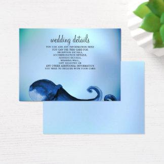 Tarjetas de detalles místicas del boda del pulpo