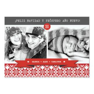 Tarjetas de encargo de la foto del navidad de invitación 12,7 x 17,8 cm
