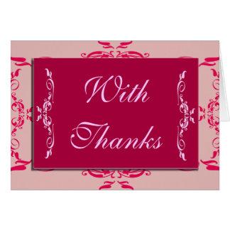 Tarjetas de encargo del de agradecimiento de