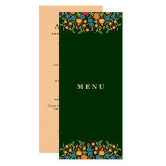 Tarjetas de encargo del menú del diseño elegante