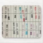 Tarjetas de fecha debida de la biblioteca del vint alfombrilla de ratón