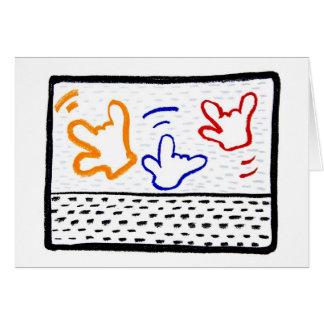 Tarjetas de felicitación: 3 Haring ILYs