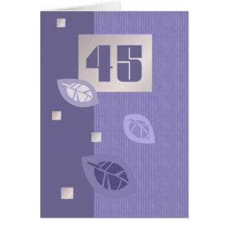 Tarjetas de felicitación adaptables del 45.o cumpl