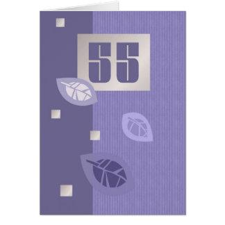 Tarjetas de felicitación adaptables del 55.o cumpl