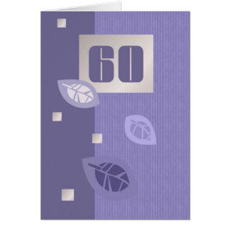 Tarjetas de felicitación adaptables del 60.o cumpl
