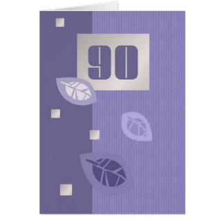 Tarjetas de felicitación adaptables del 90.o cumpl