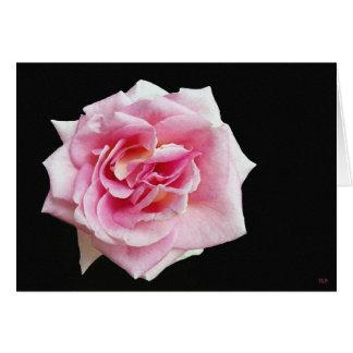Tarjetas de felicitación color de rosa rosadas